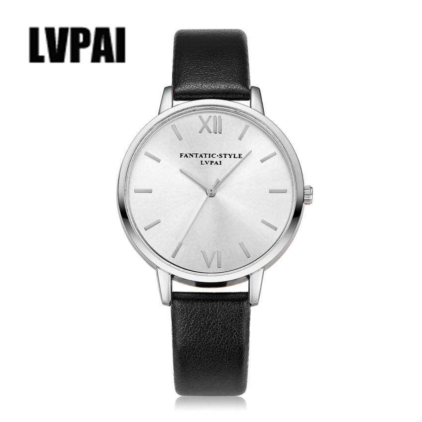 LVPAI Vogue Watch Women Top Brand Leather Strap Quartz Watches Mens Ladies Dress Clock Luxury Women Sliver Wrist Watch #ZYL eglo светодиодный накладной светильник eglo 94078