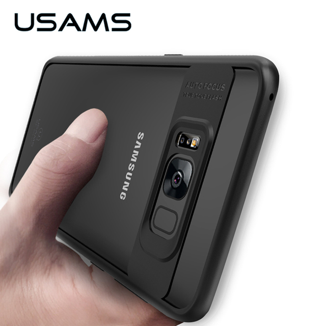 detailed look 67f62 b3500 US $6.63 |USAMS Full Protective Phone Case for Samsung Galaxy S8 TPU &  Acrylic Transparent Back Cover Ultra Thin for Galaxy S8 Plus -in Fitted  Cases ...
