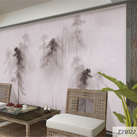 Custom 3D Print Fabric Textile Wallcoverings For Walls Cloth Murals Matt Silk For Living Room Chinese