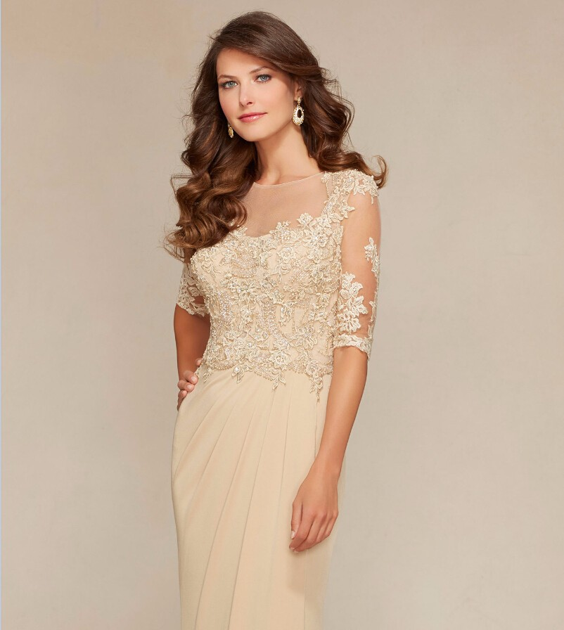 Custom-Made-Mother-Of-The-Bride-Dress-Gowns-Lace-Beading-Half-Sleeves-Godmother-Dresses-Trajes-de (3)