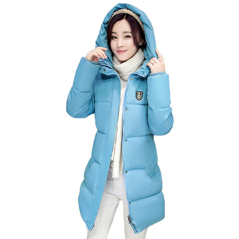 Winter Women's Fashion 2017 Cotton Warm Coats New Arrival Fashion Long sleeve Hooded Jackets Slim Style Casual Parka Coat C2612