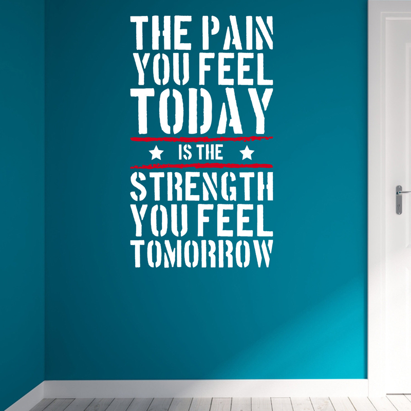 the pain you feel today home gym motivational wall decal quote