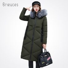 New winter jacket women big fur hooded jacket casual