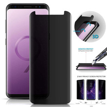3D Curved Tempered Glass For Samsung Galaxy S9 S8 Plus Note 8 9 Protect Privacy Anti Spy Screen Protector Film Screen Guard
