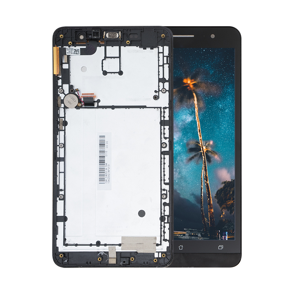 High Quality For <font><b>Asus</b></font> Zenfone 6 A600CG A601CG <font><b>T00G</b></font> LCD Display Panel Touch Screen Digitizer Sensor Assembly + Frame Tools image