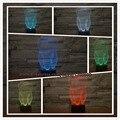 Nueva Fantástico Illusion Diente 3D LED Luz Colorida de La Noche de Los Niños bebé Dormitorio Atmósfera Lámpara de Mesa Táctil Fresco como regalo para dentista