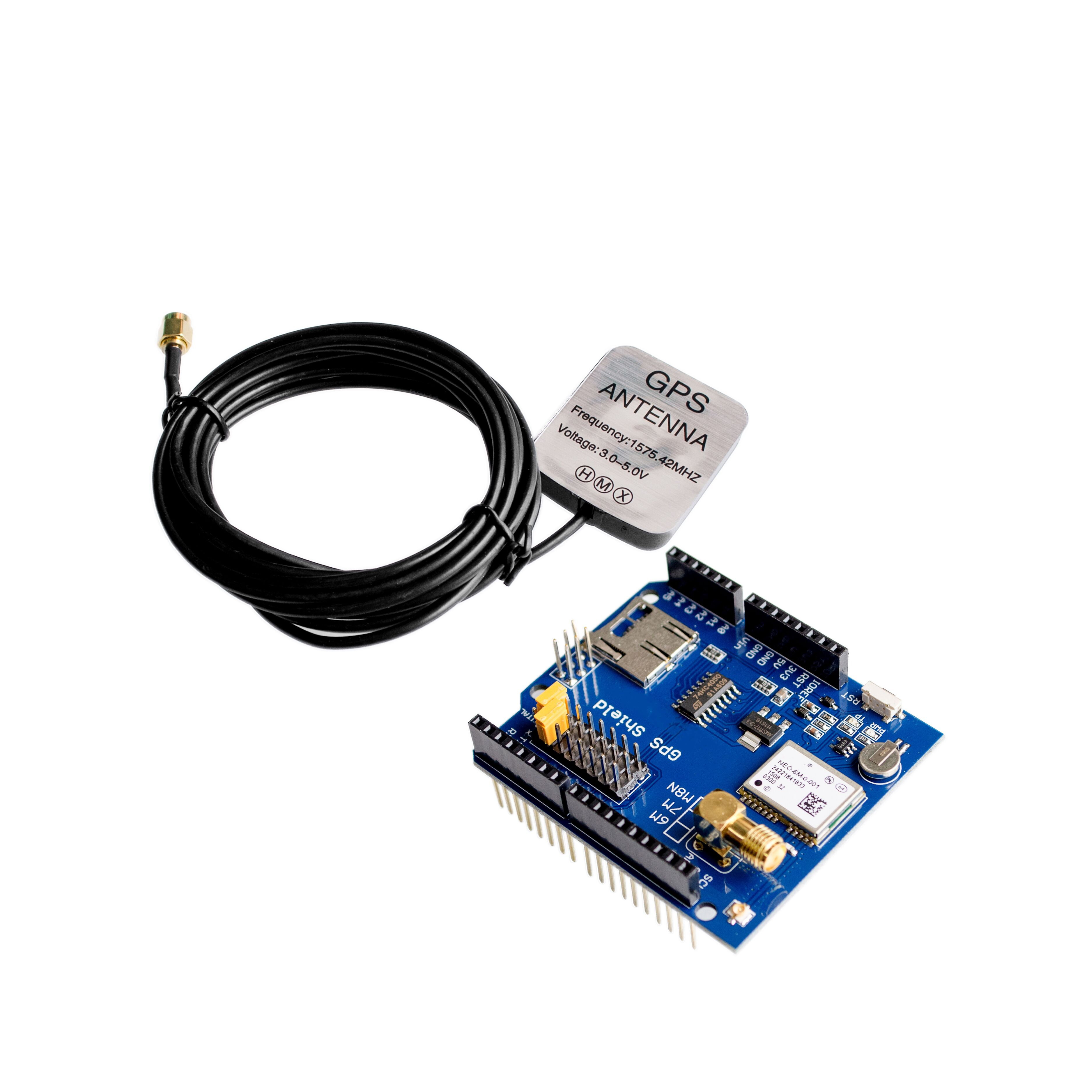 ! NEO-6M GPS Shield GPS record expansion board GPS module with SD slot card With Antenna  UNO R3! NEO-6M GPS Shield GPS record expansion board GPS module with SD slot card With Antenna  UNO R3