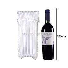 100pieces Shipment Protection thickening Nylon Air-Bag Low Price Air Column Bag For Wine Bottle Packaging