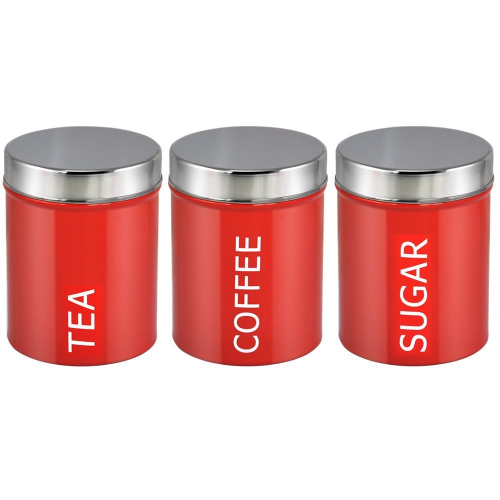 Aliexpress 3pcs 1set Red Stainless Steel Food Container Set Canister Coffee Tea Sugar Can With Lid Seal Pot Free Shipping From Reliable Opener