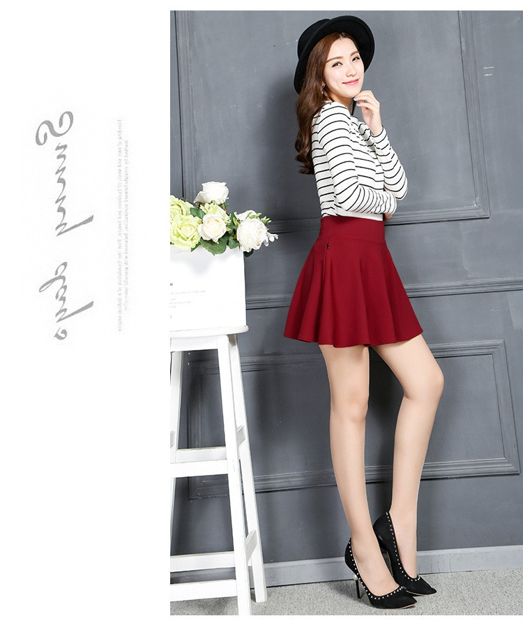837a99468 New Style A-Line Skirt Women Short Skirts Summer and Spring Pleated Skirt  Womens Maternity Skirt with Pocket Falda