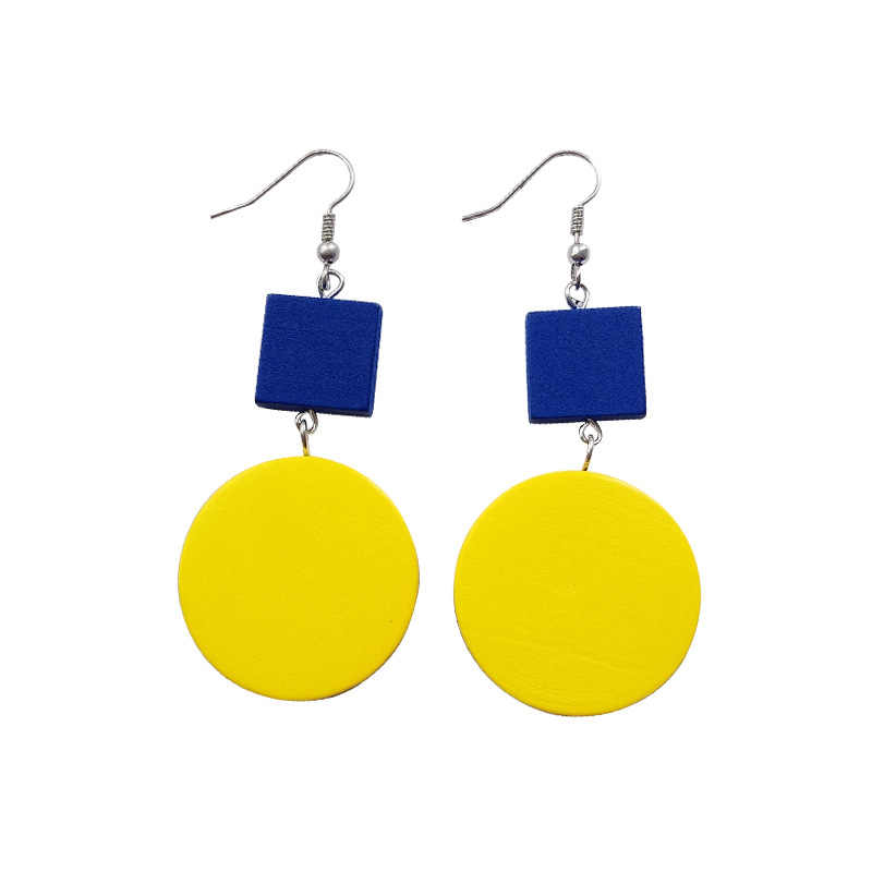 Popular Korea contracted double color is pure and fresh joker the earring of temperament individual character of long earring