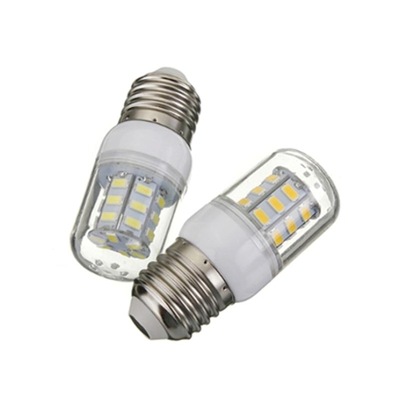 Energy Saving E27 5W 27 LED 5730 SMD 420Lm Super Bright White Warm White Corn Lights Spotlight Lamp Bulb DC12V Hot Sale energy saving daylight 80% 15w e26 e27 led bulb white warm light ultra bright