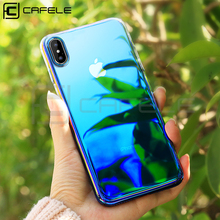 Cafele Luxury PC Case for iPhone X XS MAX Mirror Original Hard Cover Protection Gradient Color