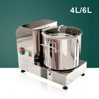 4L/6L дома бытовой нержавеющая сталь Электрический мясорубка машина овощей имбирь чеснок измельчитель резак еда процессор