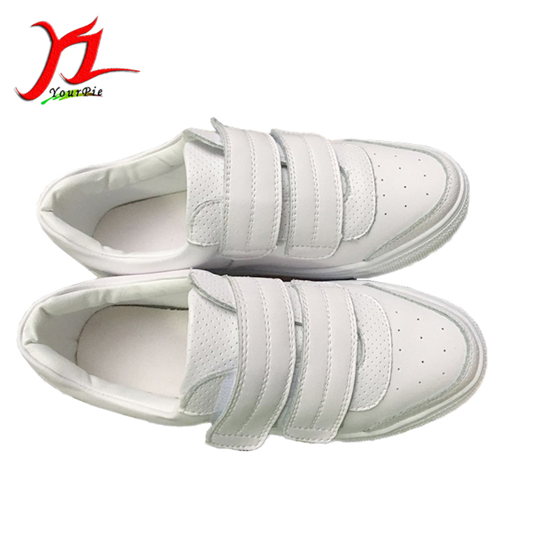 ФОТО Genuine Leather Cowhide Spring New Women's Casual White Shoes Leisuire Breathable Comfy Female Low Shoes Height Increasing Flats
