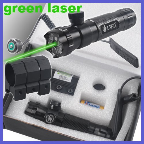 Tactical Rifle Green Laser Dot Sights Rifle Scopes Outside Adjust With Mount