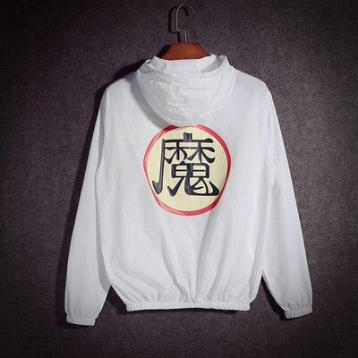 summer Mens Anime Dragon Ball Thin Anti-UV Hooded jacket Unisex Cosplay coat Lovers baseball jacket Sun protection Windbreaker
