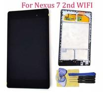 Pour Asus Google Nexus 7 2nd Gen 2013 assemblée LCD écran tactile Digitizer assemblée remplacement lunette cadre WIFI version