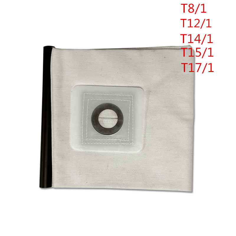 For KARCHER VACUUM CLEANER Cloth DUST Filter BAGS T8/1 T12/1 T14/1 T15/1 T17/1 1pc High quality Washable Vacuum Cleaner parts karcher vacuum cleaner bag washable cloth bags for bv5 1 reuse pattern parts free shipping