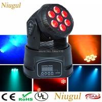 Niugul Super DJ Disco Lighting /7X12W LED Mini Wash Moving Head Light/LED Beam Dmx Stage Lighting /KTV Club LED Lamp/Chandelier