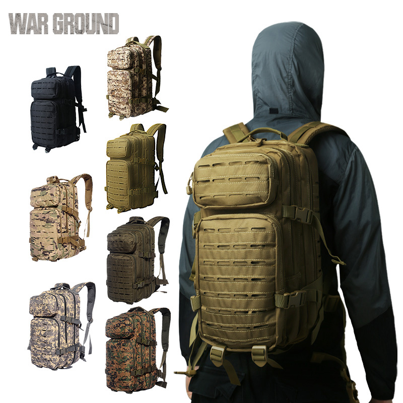 30L military backpack Molle tactical bag male waterproof camouflage hiking camping fishing hunting