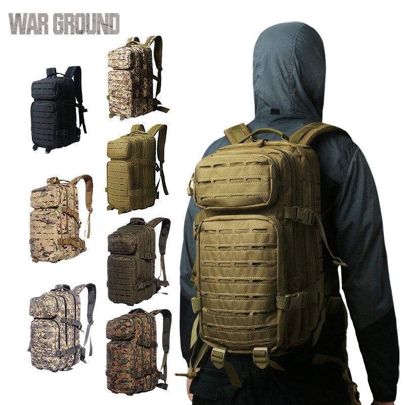 Tierra de guerra 36L mochila táctica multifunción senderismo camping mochila al aire libre bolsa de caza camuflaje militar bolsa