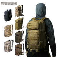 WAR GROUND Outdoor Molle Military Tactical 1000D Nylon Backpack 30L  Hiking Trekking Camping Outdoor Bag Hunting  Camouflage Bag|Climbing Bags| |  -