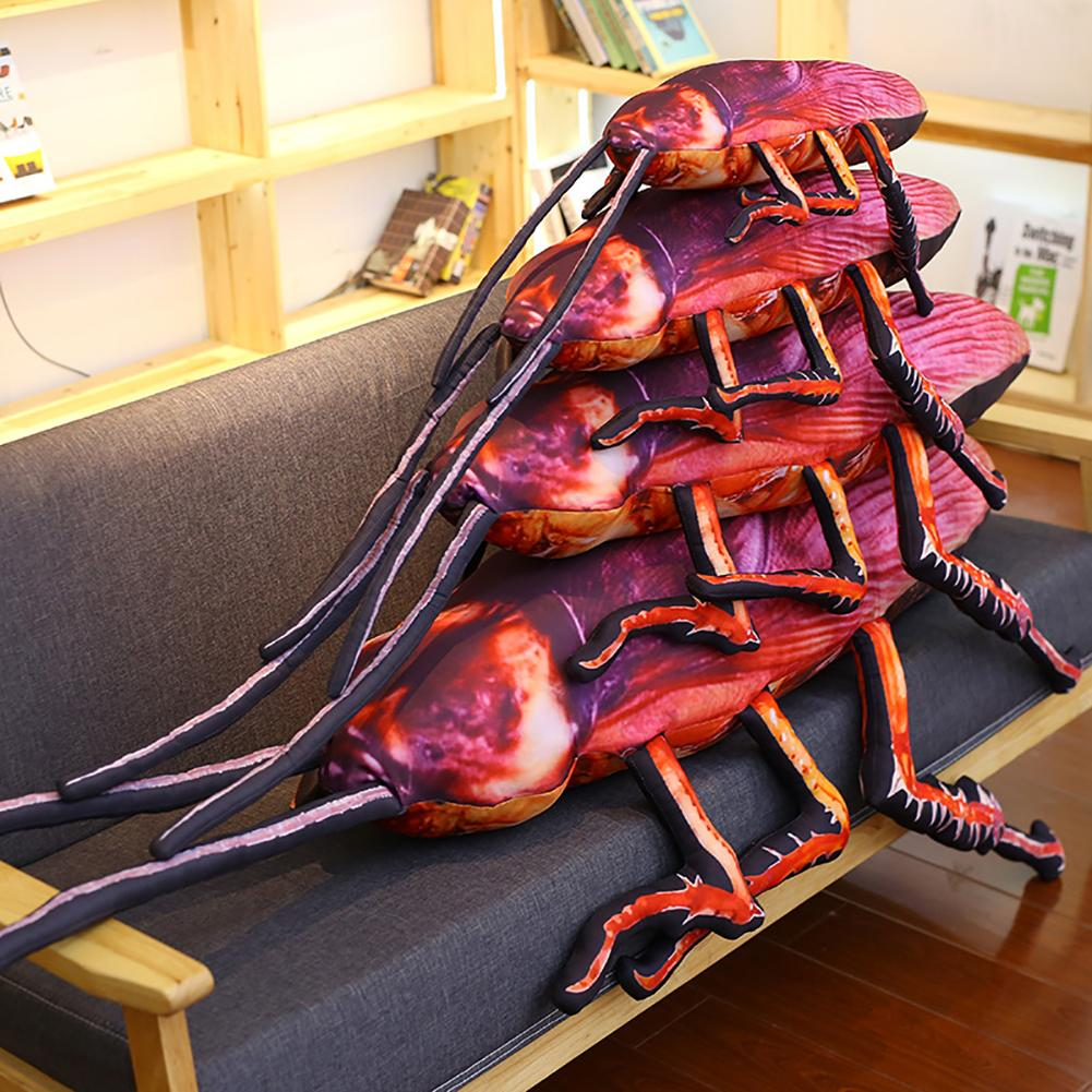 22inch Simulation 3D Cockroach Insect Stuffed Plush Pillow Cushion Prank Toy 2019
