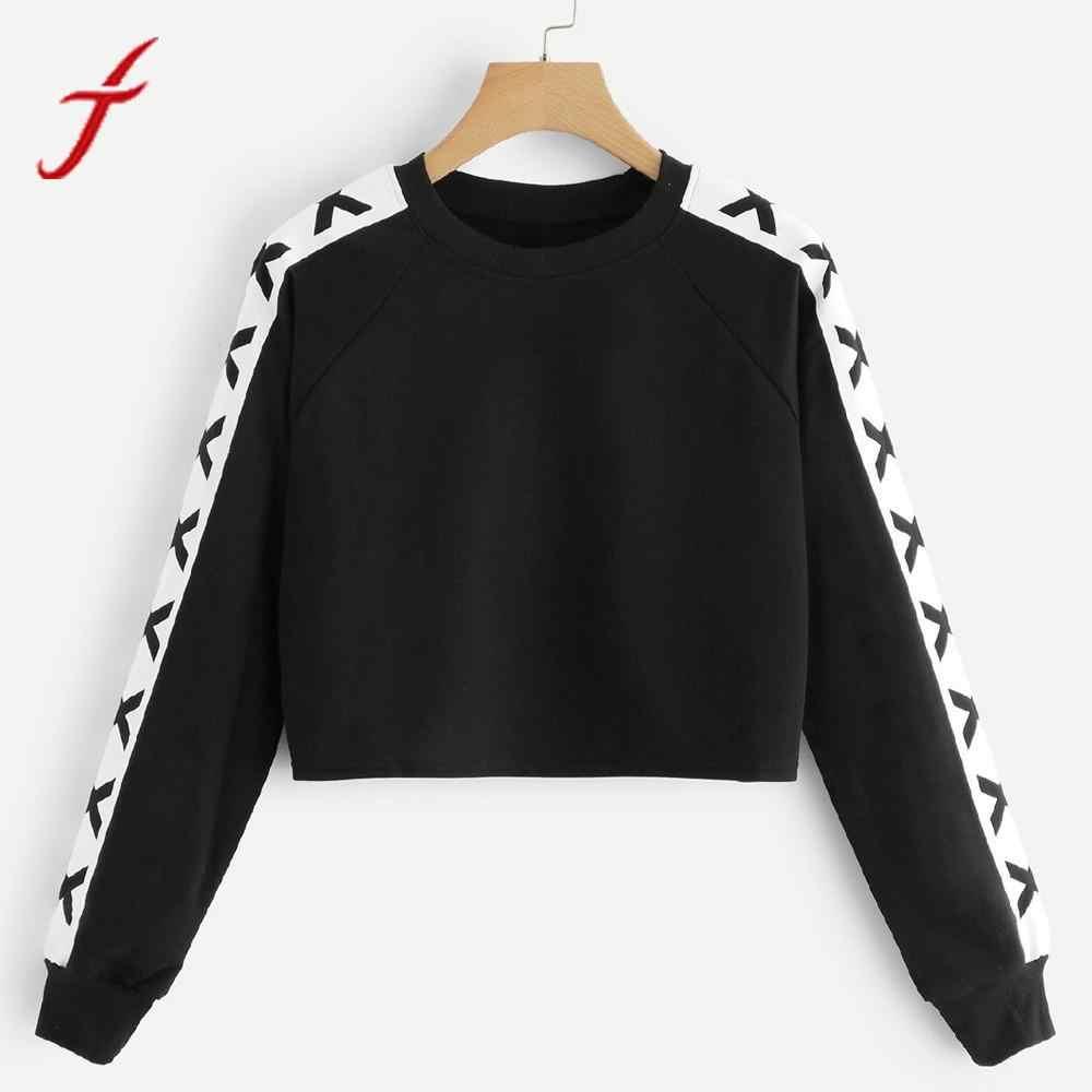 Feitong Womens Letter Print Sweatshirts 2019 Autumn Winter Long Sleeve  Round Neck Sweatshirts Tops Female poleron 5c3b79981637