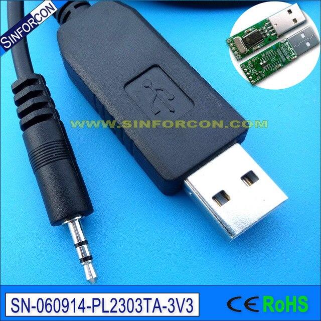 pl2303ta usb uart ttl 3.3v to 2.5mm min jack adapter prolific serial ...