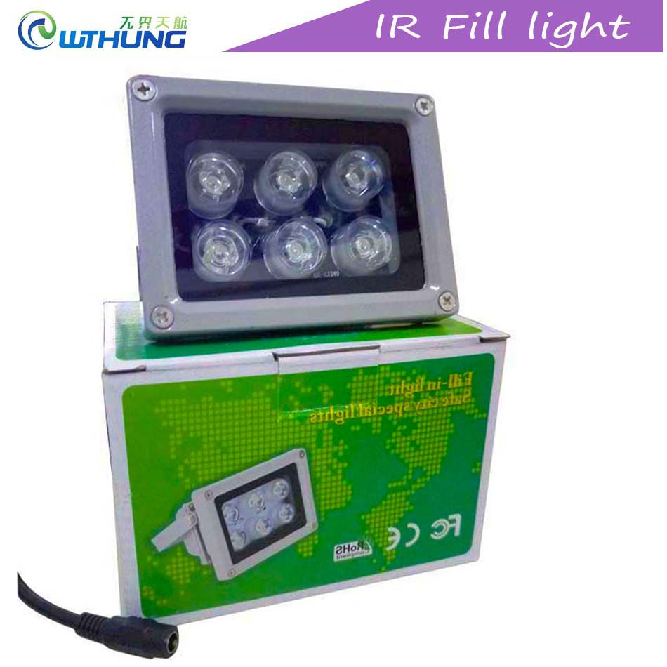 CCTV IR Led Aluminum shell 6pcs Array infrared Led lamp Light Outdoor Waterproof Night Vision IR illuminator for Home Camera цена