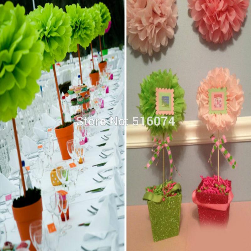 Paper Pom Poms Artificial Flower Balls Wedding Decoration Paper Balls