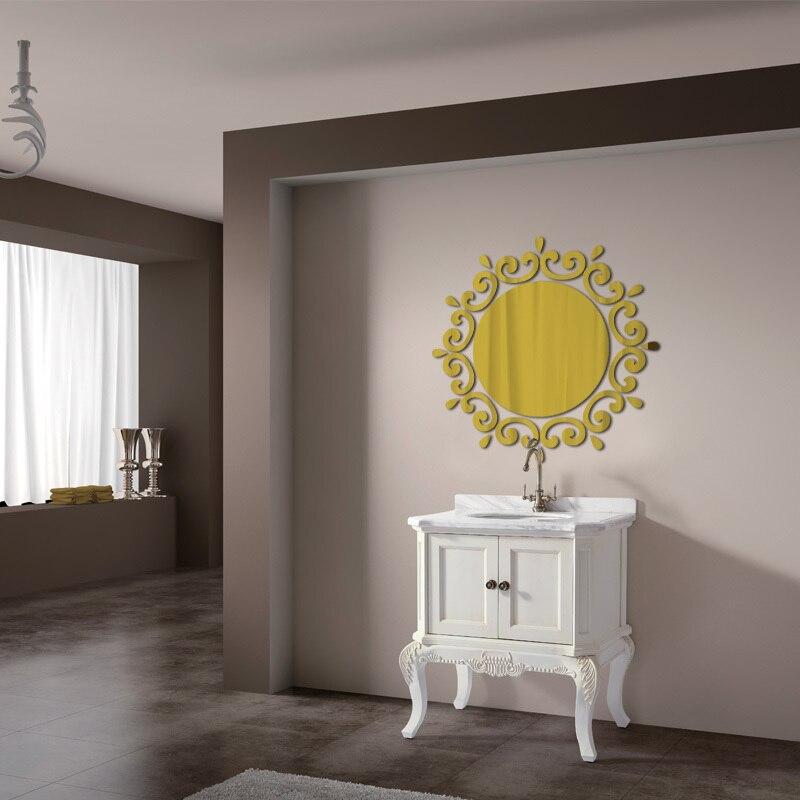 comprar caliente de acrlico d pegatinas de pared espejo grande pegatina vinilos paredes diy moderno arte de la pared decoracin del