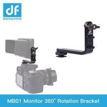 Bestview Monitor de rotación de 360 grados, soporte en L, Zapata caliente para monitor F550 F570 S5 de 5,5 5,7 pulgadas, monitor SmallHD