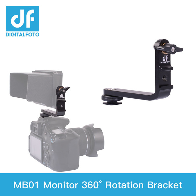 MB01 monitör 360 derece rotasyon L braketi sıcak ayakkabı için 5.5 5.7 inç monitör F550 F570 S5 Feelwrold Bestview smallHD monitör