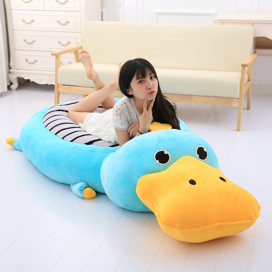 2018 Huge Giant Plush Bed Kawaii Bear Pillow Stuffed Monkey Frog Toys Frog Peluche Gigante Peluches De Animales Gigantes 50T0424 fancytrader new style giant plush stuffed kids toys lovely rubber duck 39 100cm yellow rubber duck free shipping ft90122