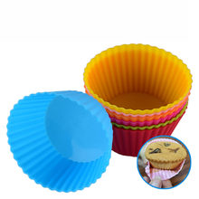 6Colos 7cm Silicone Cake Cupcake Cup Cake Tool Bakeware Baking Silicone Mold Cupcake and Muffin Cupcake for DI(China)