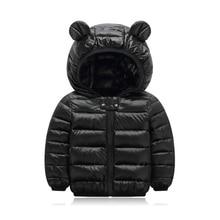 7 Colour Winter Coats Children Girls New Hooded Black Down Cotton Outerwear Girls Autumn Boys 7 Coat 1-6 Years Jacket