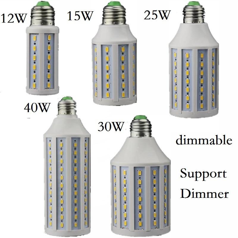Dimmable 12W 15W 25W 30W 40W LED Lamp E27 E26 B22 E14 B15 Lighting Lampada Support Dimmer LED Light Dimming Corn Bulbs Spotlight e27 dimmable led corn bulb lamp smd5733 15w 10w 5w ac220v dimmer 25