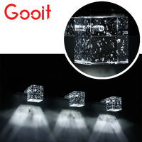 3W 6W 9W Modern Crystal Stainless Steel LED Mirror Front Light For Bedroom Bathroom Wall Light