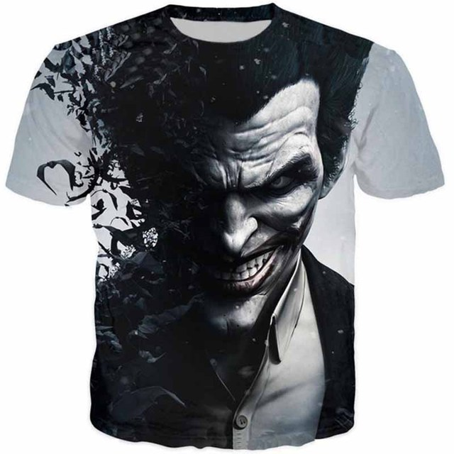 Cloudstyle Novelty 3 D Tshirt Men Joker Why So Serious 3 D Full Print Harajuku Streetwear Fashion Tees Shirt Summer Tops Plus 5 Xl by Cloudstyle