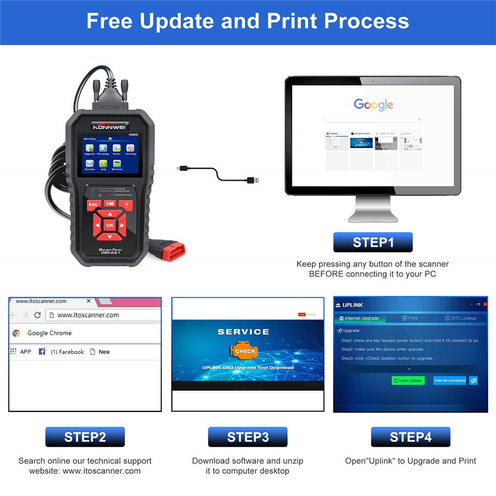 Professional OBD2 Scanner Car Code Reader Vehicle Engine Diagnostic EOBD Scan Tool for all OBDII &CAN Protocol Cars Since 1996 Pakistan