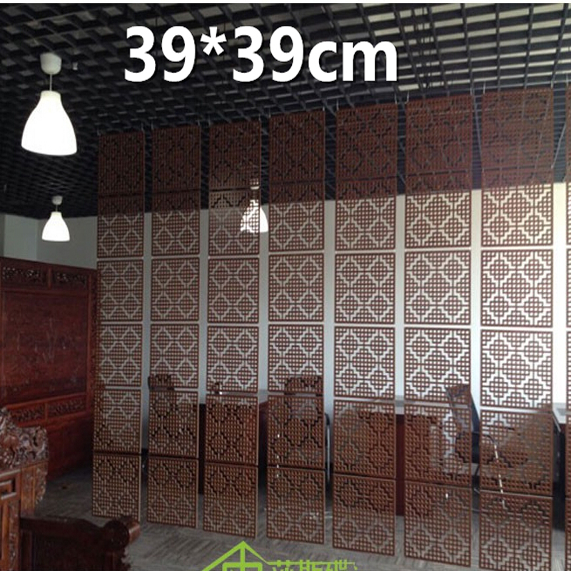 6pcs/lot Wood Screen Divider Hanging Screen partition bedroom wall post entry living room Home decoration 39*39CM