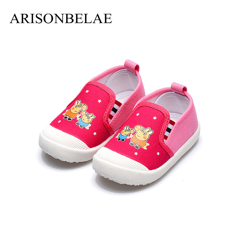 Sneakers for Childrens Tennis Girl Boy 2018 Summer Animal Pig Pink Training Shoes for Children Kids Fashion Casual ARISONBELAE