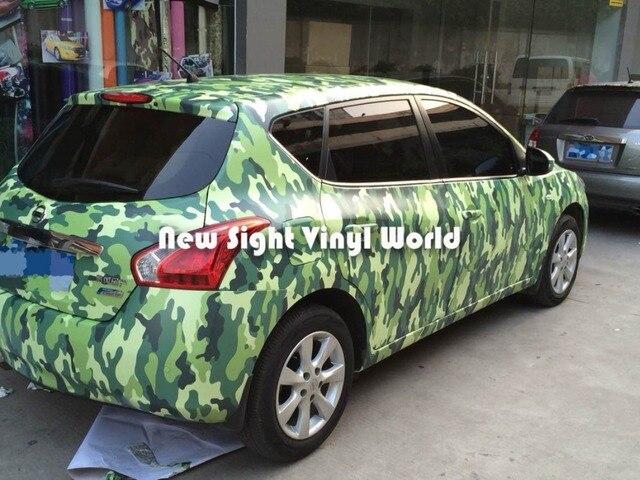 Elite Green Camouflage Vinyl Wrap Military Urban Camo Car Film Bubble Free Vehicle Size 1 50 30m Roll