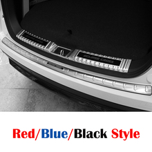 For Mitsubishi Eclipse Cross 2018 Stainless Steel Rear Bumper Protector Sill Scuff Plate panel Cover Trim Car accessories 1pcs stainless steel red blue black for mitsubishi eclipse cross accessories 2018 2019 rear tailgate trunk lid cover trim car styling