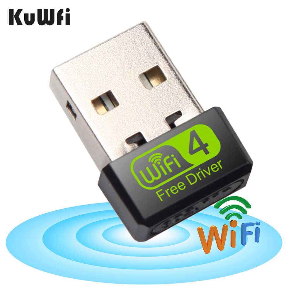 Wireless Wifi Adapter Mini USB Wifi Dongle150Mbps Ethernet PC Adapter WiFi Antenna Ethernet PC  LAN Wifi Receiver Free Drive