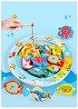 Oceano de madeira Jigsaw Puzzle Magnético Bordo Criança Kid Educacional Toy Elétrica Rotativa Magnet Rod Peixe Jogo De Pesca