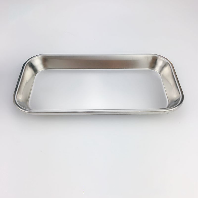 1Pcs Stainless Steel Medical Tray Square Dental Plate Oral Care Dentist Materials Plates for Teeth Laboratory Equipment