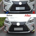 4 PCS Car Styling DIY ABS Chrome Front Fog Eyebrow Light Car Cover Case Stickers for Lexus RX200t 350 450h 2016 Part Accessories